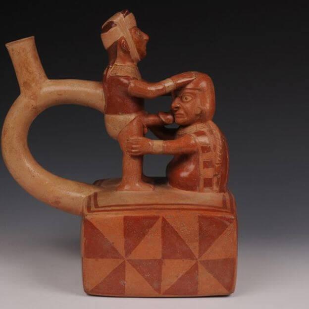 Arte erótica dos Moche.
